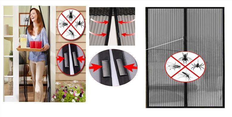 Mreža protiv komaraca i insekata s ušivenim magnetima za zatvaranje za 59kn!