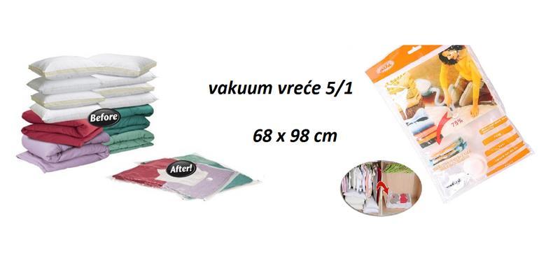 5 vakuum vreća  za pospremanje stvari, organizaciju i štednju prostora za 99 kn!