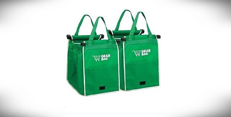 [SHOPPING BAG] 2 torbe za višekratnu kupovinu, od ekološki prihvatljivog materijala olakšajte si odlaske u trgovinu za 79 kn!