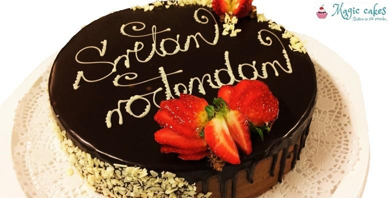 Ledeni vjetar ili čokoladna torta s natpisom