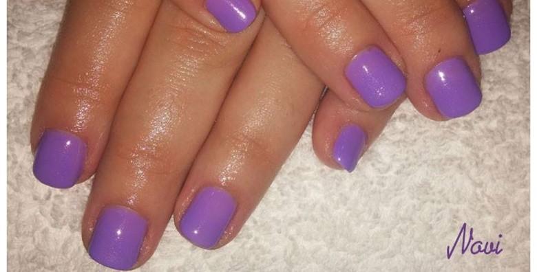 Manikura uz geliranje prirodnih noktiju ili ugradnju i gel - slika 4