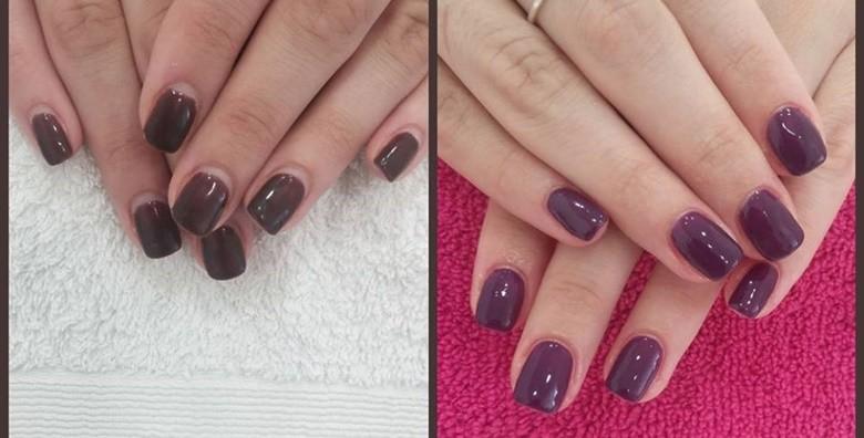 Manikura uz geliranje prirodnih noktiju ili ugradnju i gel - slika 6