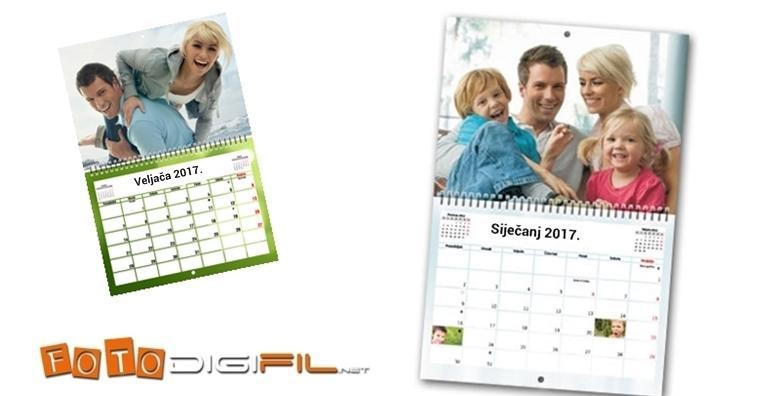 Fotokalendar dimenzija 30 x 45 cm s 24 stranice - originalan poklon za 92 kn!