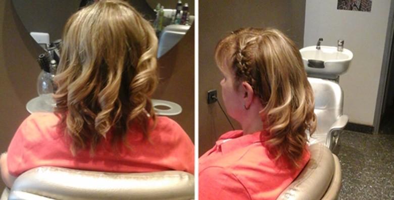 Pramenovi ili bojanje uz šišanje, njegu maskom i fen frizuru - slika 3