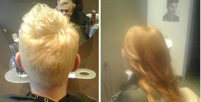Pramenovi ili bojanje uz šišanje, njegu maskom i fen frizuru - slika 4
