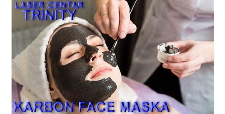 Čišćenje lica kisikom uz Carbon face masku