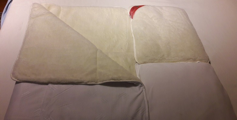 Merino vuna - prekrivač i 2 jastuka - slika 2