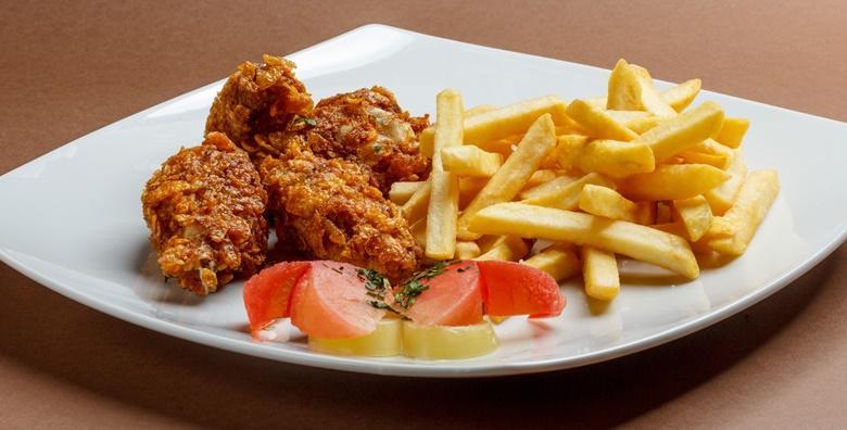 [STARA VODENICA] Hrskava pileća krilca, pomfrit, tartar umak, ketchup i palačinke za dvoje - ukusna domaća hrana za samo 80 kn!