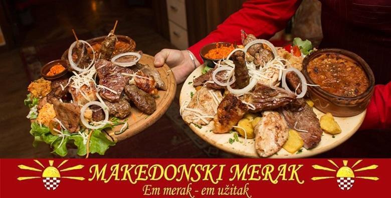 [MAKEDONSKI RESTORAN] Pikantni šiš ćevapi, svinjski medaljoni, pohana piletina sa sezamom, punjena pljeskavica, krumpir, luk i ajvar za 149 kn!