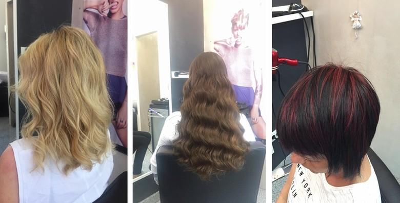 Bojanje, šišanje i fen frizura uz masažu vlasišta i pakung - slika 4