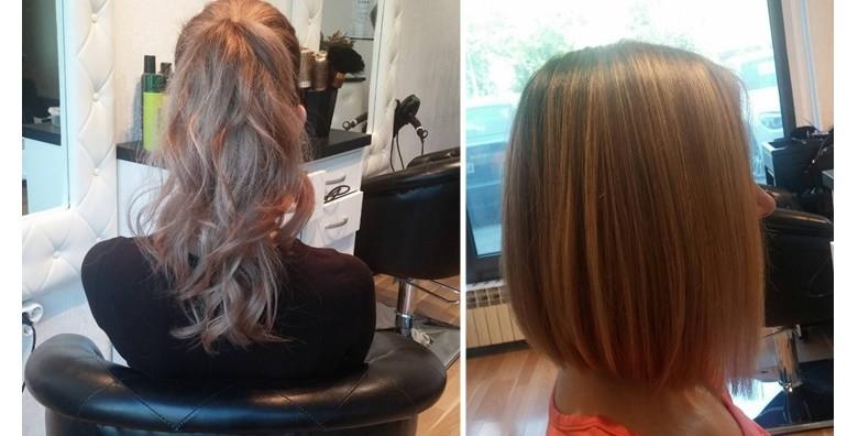 Pramenovi po izboru, šišanje i fen frizura - slika 6