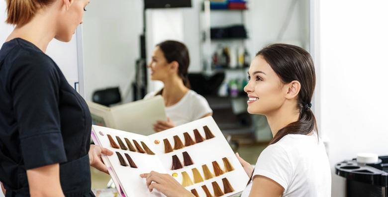 Pramenovi ili bojanje uz šišanje, njegujuću masku na prirodnoj bazi argana, meda i zobi te fen frizuru u salonu Hair&Hair design za 219 kn!