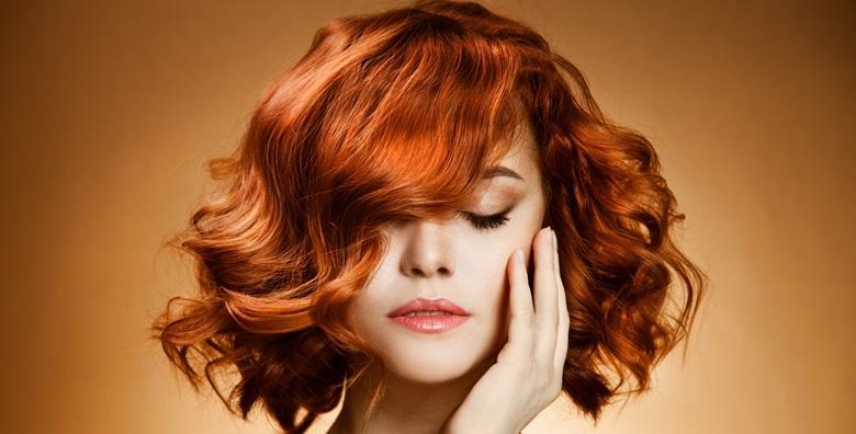 Pramenovi ili bojanje uz šišanje, fen frizuru i ampulu