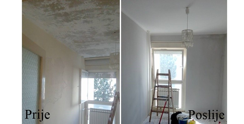 Bojanje zidova i stropova bojom po izboru do 50m2 ili 100m2 - slika 2