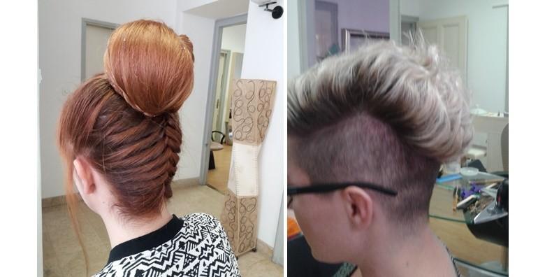 Table hair painting, šišanje i fen frizura - nova tehnika! - slika 7