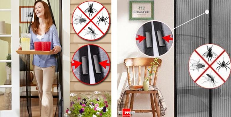 Muhe i komarci vam više neće dosađivati! Mreža za vrata dimenzija 200 x 100cm  jednostavna montaža i dugotrajna zaštita za samo 59 kn!