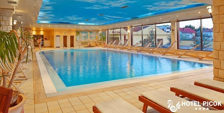 [HOTEL PICOK****] 3 dana s polupansionom za dvoje uz masažu aromatičnim uljima te korištenje bazena, jacuzzija i sauna za 1.195 kn!