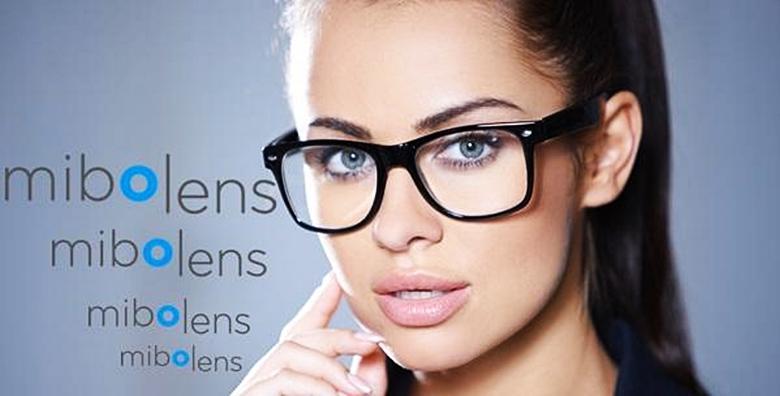 Dioptrijske naočale s okvirima i staklom sa zaštitnim slojem protiv grebanja uz GRATIS pregled vida u Optici Mibo lens za 299 kn!