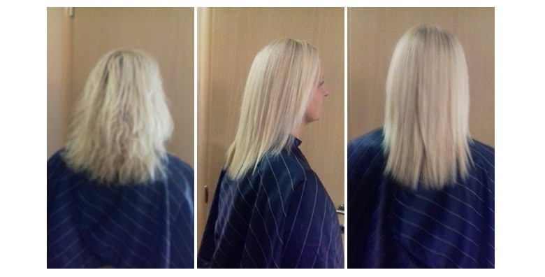 Brazilsko ravnanje kose - keratinski tretman - slika 2