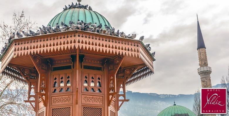 [SARAJEVO] 3 dana za dvoje u hotelu Yildiz samo 50 metara udaljenom od centra Baščaršije i poznate fontane Sebilj za 479 kn!