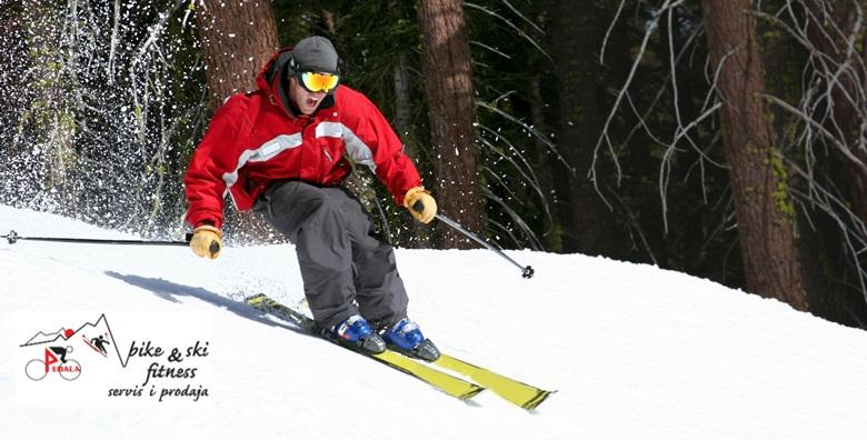 Veliki servis skija - brušenje skija, popravak manjih oštećenja, poliranje voskom i provjera vezova - bezbrižno uživajte u prvom snijegu za 89 kn!