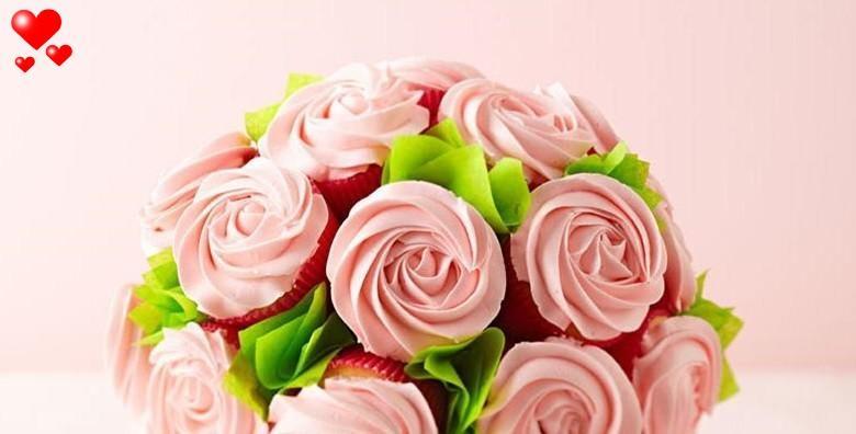 [CUPCAKE BUKET] Najslasniji poklon za Velentinovo! 10 kolačića od čokolade ili vanilije iz poznate slastičarnice Horak za 99  kn!