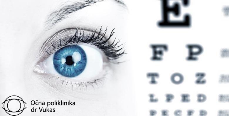 Pregled za kontaktne leće, par probnih mekih kontaktnih leća