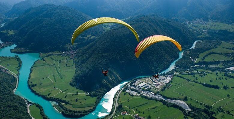 [PARAGLIDING] Adrenalinski let u tandem letjelici s instruktorom uz uključenu opremu, GRATIS snimku leta, majicu i piće dobrodošlice za 725 kn!
