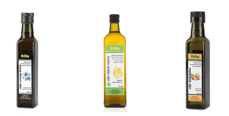 Hladno prešano ulje crnog kima, uljane repice ili lješnjaka