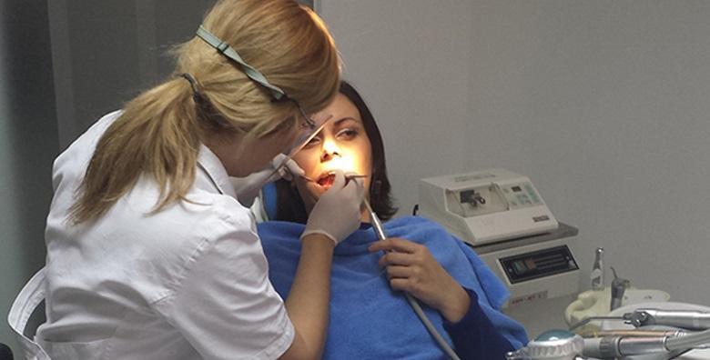 Čišćenje zubnog kamenca, pjeskarenje, poliranje i pregled
