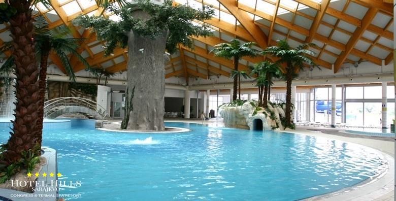 [SARAJEVO, ILIDŽA] 3 dana s doručkom za dvoje u luksuznom Hotelu Hills***** uz neograničeno kupanje u termama i korištenje wellnessa za 1.221 kn!