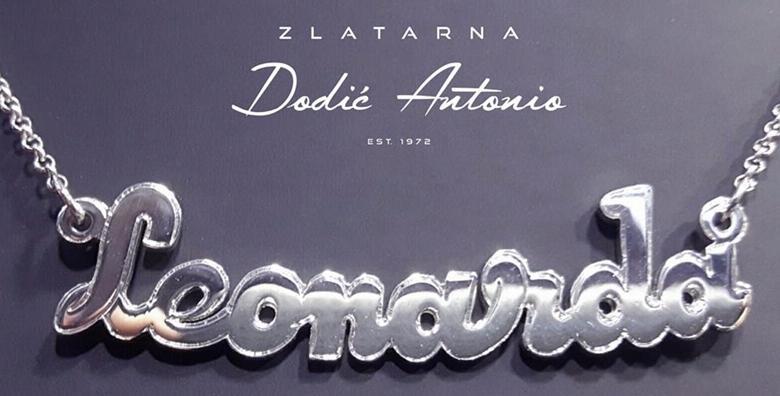 Srebrna ogrlica s imenom - poklonite sebi ili bližnjima personalizirani komad nakita iz zlatarne Dodić Antonio od 199 kn!