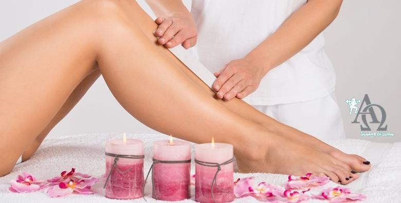 Depilacija cijelih nogu voskom i dublje bikini zone perlama