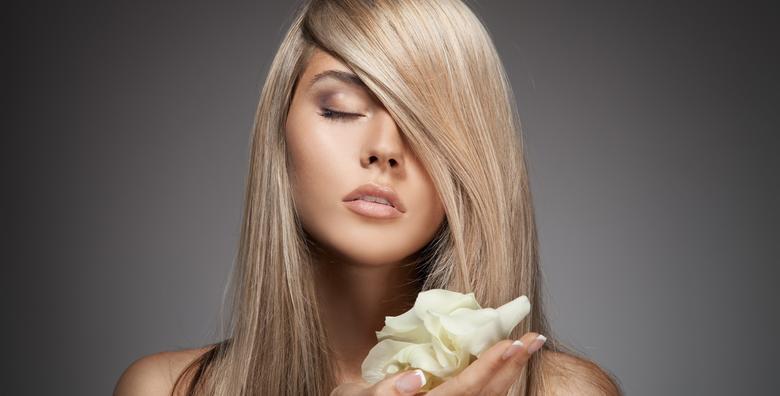 Botox ili njega kose uz šišanje vrućim škarama i fen frizuru