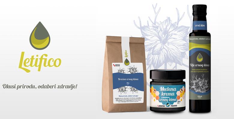 [CRNIM KIMOM DO ZDRAVLJA!]  Hladno prešano ulje, bezglutensko brašno i medena krema - paket prirodnih i zdravih namirnica za 147 kn!