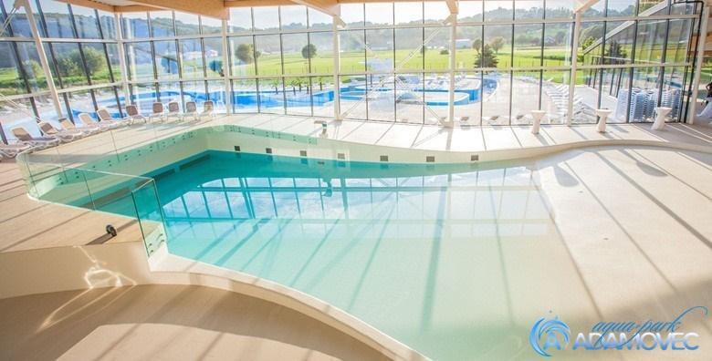 [AQUAPARK ADAMOVEC] Cjelodnevno kupanje na unutarnjim i vanjskim bazenima - iskoristivo svim danima u tjednu za samo 45 kn!