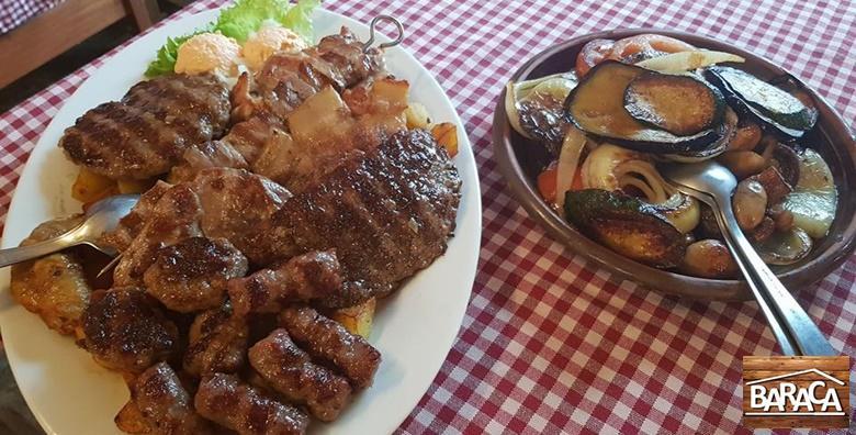 Grill plata za dvoje u restoranu Baraca za samo 79 kn!