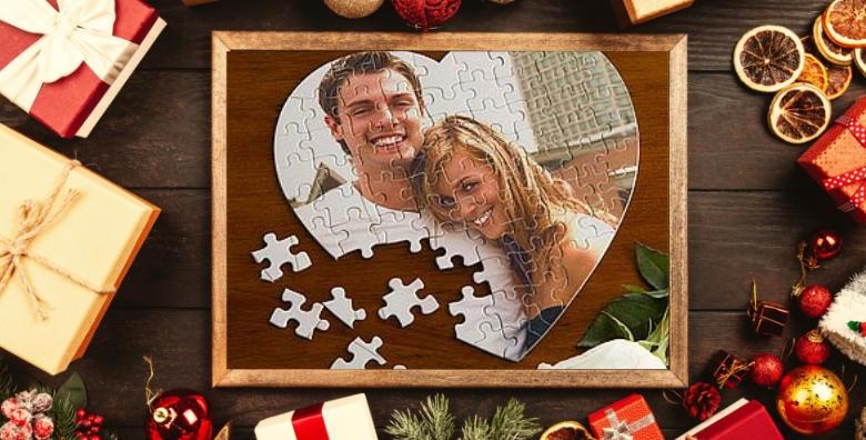 Puzzle u obliku srca s fotografijom po izboru - razveselite dragu osobu personaliziranim darom povodom predstojećih blagdana za 39 kn!