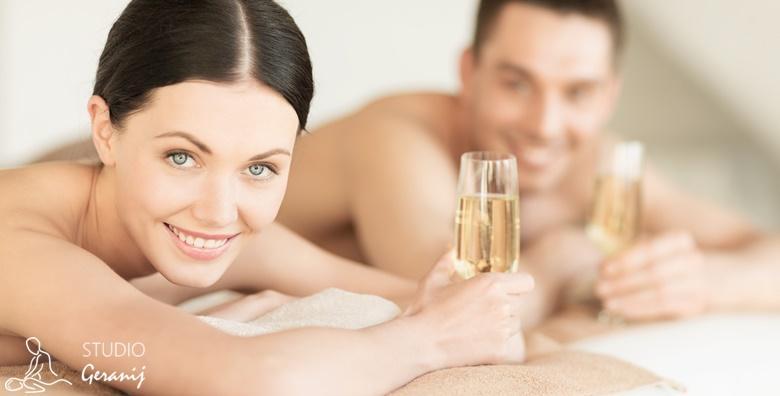 [MASAŽA U PARU] Povedite dragu osobu na 60 minuta opuštanja uz sportsko - medicinski tretman i GRATIS butelju vina Muškat za 249 kn!
