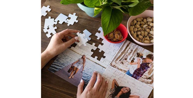 Velike A4 puzzle od čak 120 komada s fotografijom po izboru - najljepši poklon  ispod bora onima koje najviše volite za samo 39 kn!