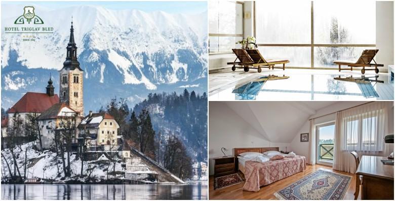 [BLED, HOTEL TRIGLAV**** ] 1 noćenje s doručkom za dvoje u sobi s romantičnim pogledom na čarobno ledenjačko jezero za 836 kn!