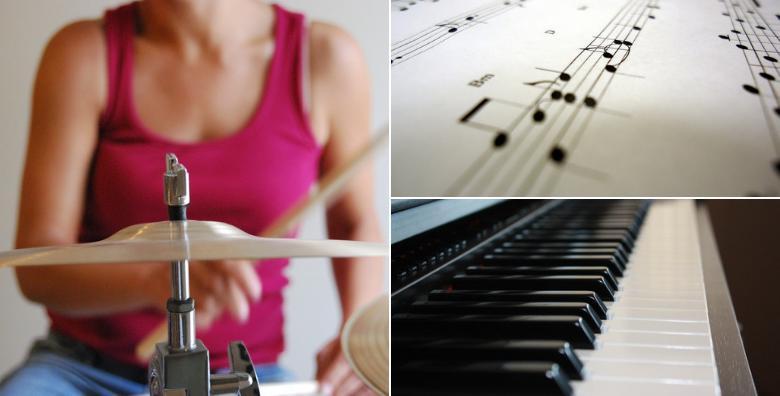Tečaj bubnjeva ili klavijatura u trajanju 16 šk. sati za 476 kn!