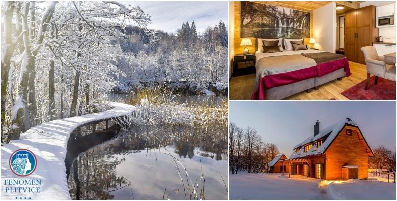 [RESORT FENOMEN PLITVICE****] 2 noćenja s doručkom za dvoje u luksuznom deluxe apartmanu uz mogućnost privatnog korištenja spa oaze od 1.949 kn!
