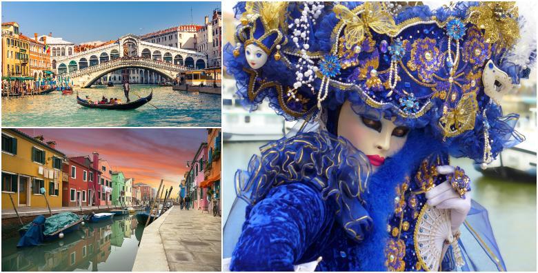 [VENECIJA I OTOCI LAGUNE] Provedite najšareniji i najzabavniji karneval dosad otkrivajući tajne prekrasnih, romantičnih otoka za 429 kn!