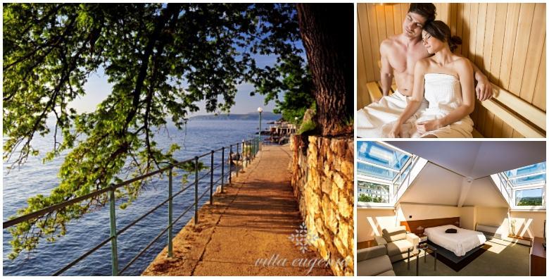 [LOVRAN] 2 noćenja s doručkom za dvoje uz korištenje spa oaze u Villi Eugenia**** nedaleko od šetališta Lungomare za 737 kn!