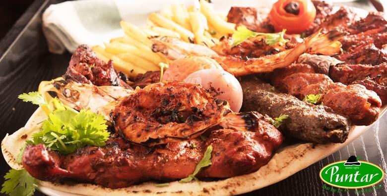 Roštiljska gozba za 2 osobe u Restoranu Puntar - kotleti, pileći filei, ražnjići, kobasice i ćevapi uz palačinke za samo 79 kn!