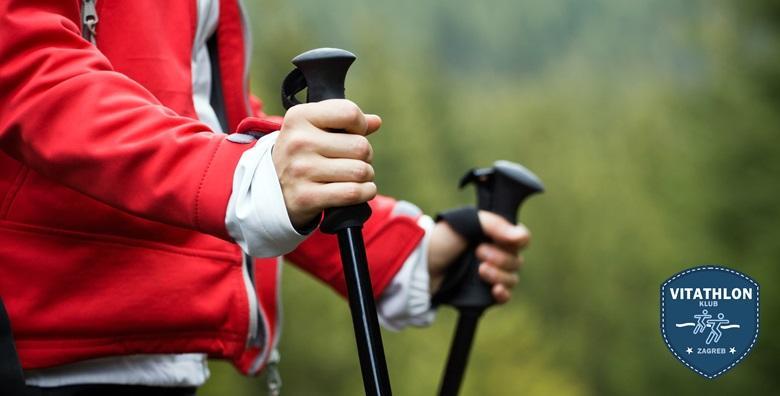 Ponuda dana: Hodanje je dobro, ali nordijsko je najbolje! Aktivnost koja čuva dobru liniju, jača cirkulaciju i produžuje život - jednodnevni tečaj za 99 kn! (Vitathlon društvo za sportsku rekreaciju)